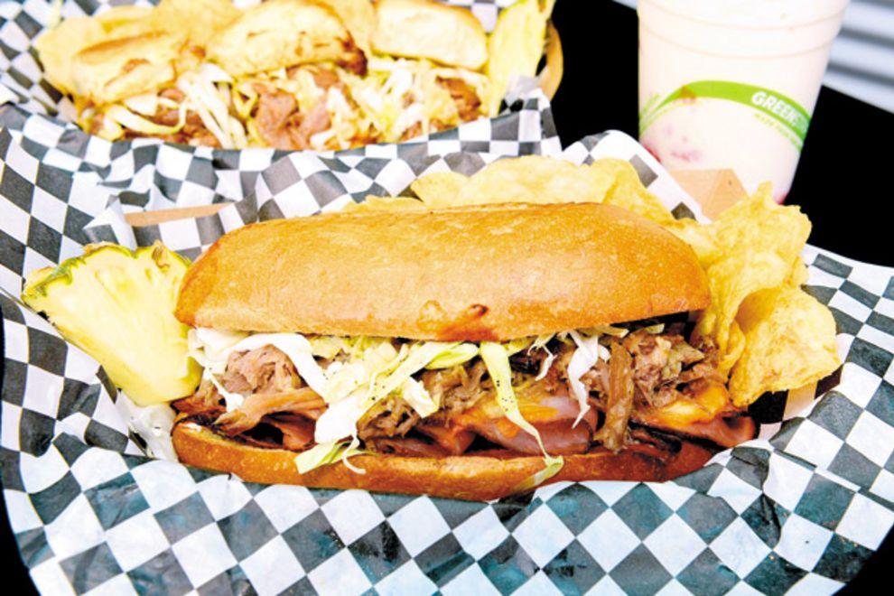 best kalua pig sandwich in hawaii kono s restaurants