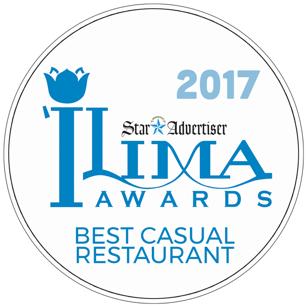 2017 Best Casual Restaurant Badge