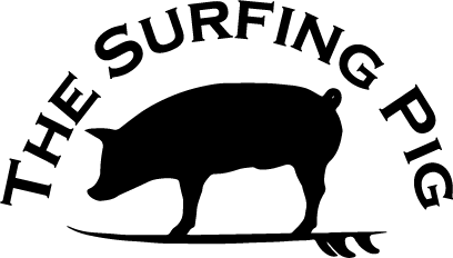The Surfing Pig Hawaii Logo