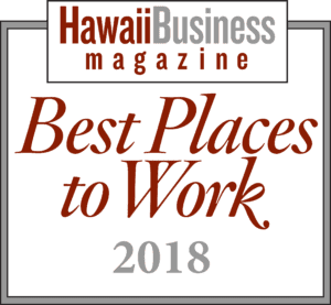 Hawaii best place to work badge